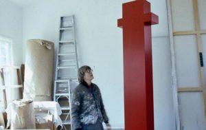 Anne Truitt in her Washington, DC studio, 1973