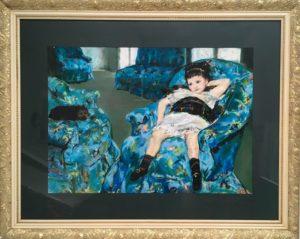 Denise Dupre's copy of Little Girl in a Blue Armchair, 1878 by Mary Cassatt (1844-1926)