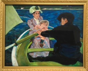 Denise Dupre's copy of The Boating Party, 1893 by Mary Cassatt (1844-1926)