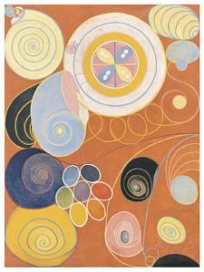 Group IV, The ten largest no 3, youth. 1907 Tempera on paper mounted on canvas 321 x 240 cm by Hilma af Klint