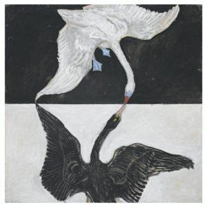 Group IX/SUW, The swan, no 1., 1914-15 Oil on canvas 150 x 150 cm by Hilma af Kilnt