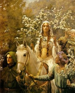 Queen Guinevre's Maying, circa 1897 Oil on canvas 71 x 47 1/2 inches by John Collier