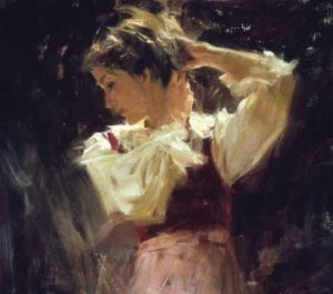 Sketch of Helga Oil on panel 10 × 12 inches by Richard Schmid