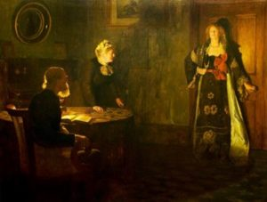 The Prodigal Daughter, 1903 Oil on canvas 65 1/4 x 85 1/4 inches by john Collier