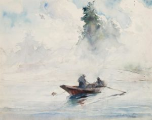 Two Figures in a Dory, 1937 watercolor by Andrew Wyeth (1917-2009)