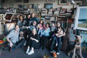 The Genns, 2013 L-R: Peter, James, Dorothy, Sara, Bob, Shauna, Tamara, Zoë, Carol, Beckett, Dave, Poppy, Stanley