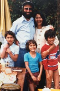 The Genn Family, c. 1980 James, Bob, Sara, Carol and Dave
