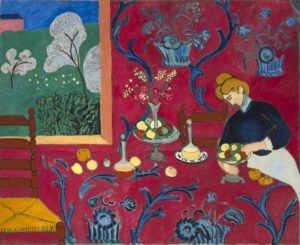 The dessert: Harmony in Red, 1908 Oil on canvas 70.9 in × 86.6 inches by Henri Matisse (1869-1954)