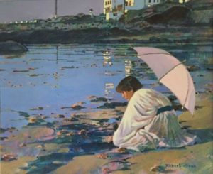 Sara in Brittany, 1984 Acrylic on canvas 24 x 30 inches by Robert Genn