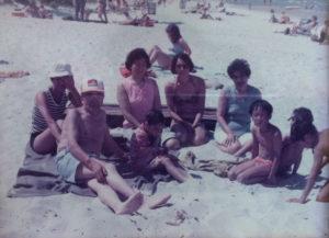 Winnipeg, c. 1977 L-R: Betty, Kohei, Sara, Atsuko, Carol, Kimie, Mark, James, Jeff