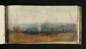 Study of Sky circa 1816-18 Watercolour on paper 125 × 247 mm by J.M.W. Turner
