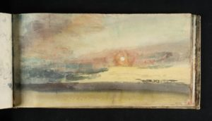 Study of Sky, circa 1816-18 Watercolour on paper 125 × 247 mm by Joseph Mallord William Turner (1775-1851)