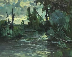 Twilight Oil on canvas 24 x 30 inches by Sergei Bongart