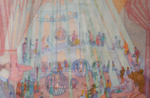 Circus of Life, 1978 Oil on canvas 162 x 192.5 cm by Peter Newton