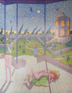Garden of Dreams, 1970 Oil on canvas 91 x 108 cm by Peter Newton