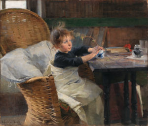 The Convalescent, 1888 Oil on canvas 92 x 107 cm by Helene Schjerfbeck (1862-1946)