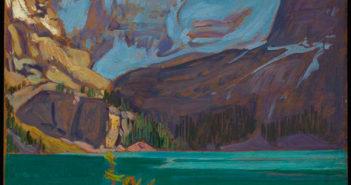 Lake O'Hara, Rockies 1926 Oil on wood-pulp board 21.5 x 26.6 cm by J.E.H. MacDonald (1873-1932)