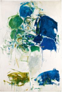 Vétheuil, 1967-68 Oil on canvas 76 3/4 x 49 7/8 inches by Joan Mitchell