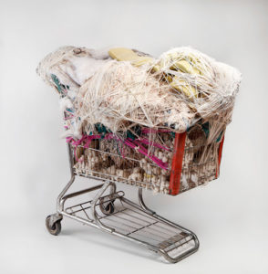 Untitled, 2003-2004 Fiber and found objects 45 × 47 × 31 inches by Judith Scott (1943-2005)