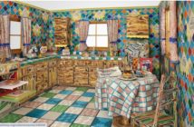 Kitchen, 1991–1996 Beads, plaster, wood and found objects 96 × 132 × 168 inches by Liza Lou (b. 1969)