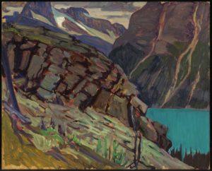 Lake O'Hara, 1930 Oil on cardboard 21.4 x 26.7 cm by J.E.H. MacDonald
