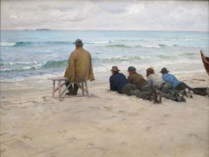 On the Look-out, 1889 Oil on canvas by Eilif Peterssen