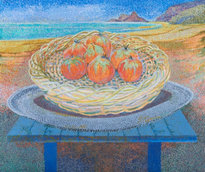 Still Life of Tomatoes, 2011 oil on canvas 46 x 55 cm by Peter Newton