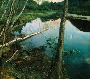 Summer Night, 1886 Oil on canvas 151 x 133 cm by Eilif Peterssen (1852-1928)