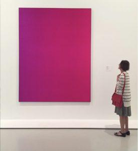 Carol at the MoMA, circa 2010